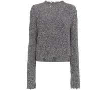 'Grunge' Wollpullover in Distressed-Optik