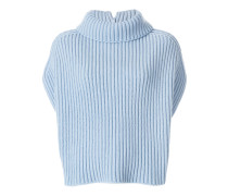 sleeveless ribbed jumper
