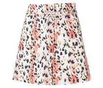 leopard-print organic-cotton shorts