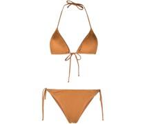 Bikini aus Faux-Leder