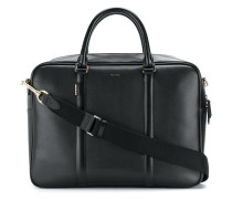 logo stamp zipped briefcase