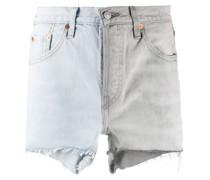 Zweifarbige Jeans-Shorts