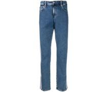 Gerade Jeans mit Logo-Streifen