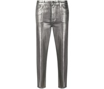 Cropped-Hose im Metallic-Look