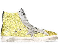 'Francy' High-Top-Sneakers mit Glitzereffekt