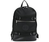 buckled logo backpack