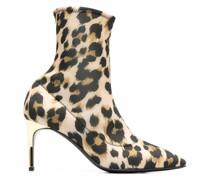 Sock-Boots mit Leoparden-Print