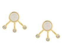Vergoldete 'Three Gravitation' Ohrringe mit Halbedelsteinen