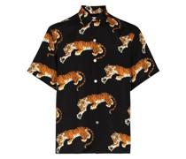 x Tim Lehi Hemd mit Tiger-Print