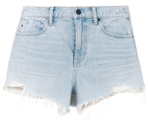 distressed detail shorts