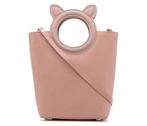 BAPY BY *A BATHING APE® logo-handle leather tote bag