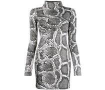 Kleid in Schlangenlederoptik