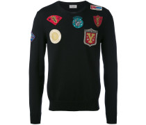 Wollpullover mit Patches