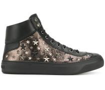 Argyle hi-top sneakers