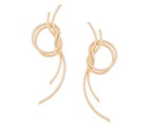 Vergoldete Ohrringe mit Knoten