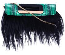fur detail crossbody bag