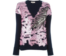 Pullover mit rosa Pailletten