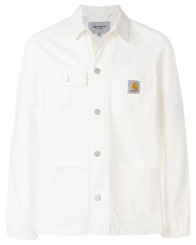 Schmale Jacke mit Logo-Patch
