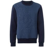 Sweatshirt mit floralem Totenkopfmotiv