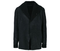 hooded raw edge jacket