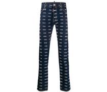 "Gerade Jeans mit ""Icon""-Print"