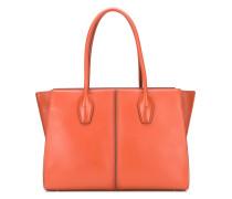 Handtasche mit Kontrasteinsätzen
