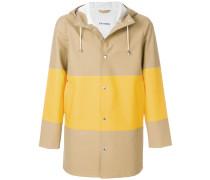 colour block raincoat