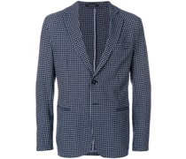micro-check unstructured blazer