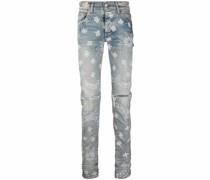 Schmale Jeans mit Paisley-Print