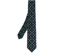 star embroidered tie