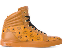 High-Top-Sneakers mit Logos