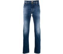 Schmale Jeans mit ausgewaschenem Effekt
