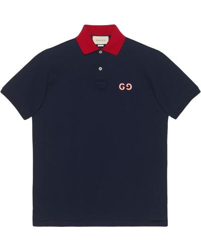 Poloshirt mit GG-Stickerei