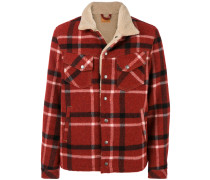 checked button up jacket
