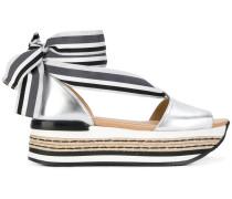 tie platform sandal