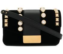 stud embellished shoulder bag