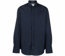 cutaway-collar cotton shirt