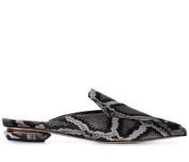 'Beya' Mules mit Schlangenledereffekt