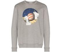 Sweatshirt mit Jupiter-Print