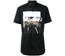 Hemd mit Print - men - Baumwolle/Elastan - 56