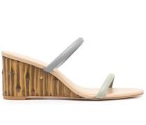 Wedge-Sandalen mit Riemendetail