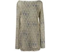 Kleid mit Spitzen-Print