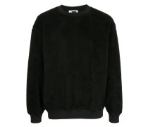 Fleece-Sweatshirt mit Rundhalsausschnitt