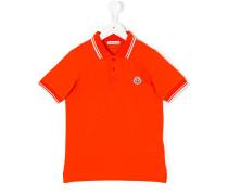 Poloshirt mit gestreiften Abschlüssen