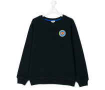 Sweatshirt mit Logo-Patch - kids - Baumwolle