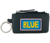 Blue zipped wallet