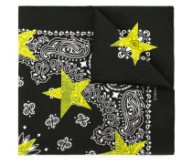patterned star print scarf