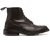 burnished brogue-detail boots