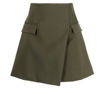 A-line wrap mini skirt