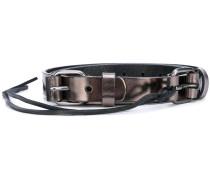 Metallic-Gürtel mit Zierband